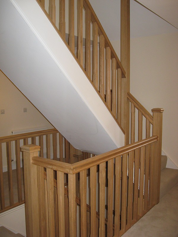 Santer joinery staircase frithmans mr hughes feb 2012 for Building winder stairs