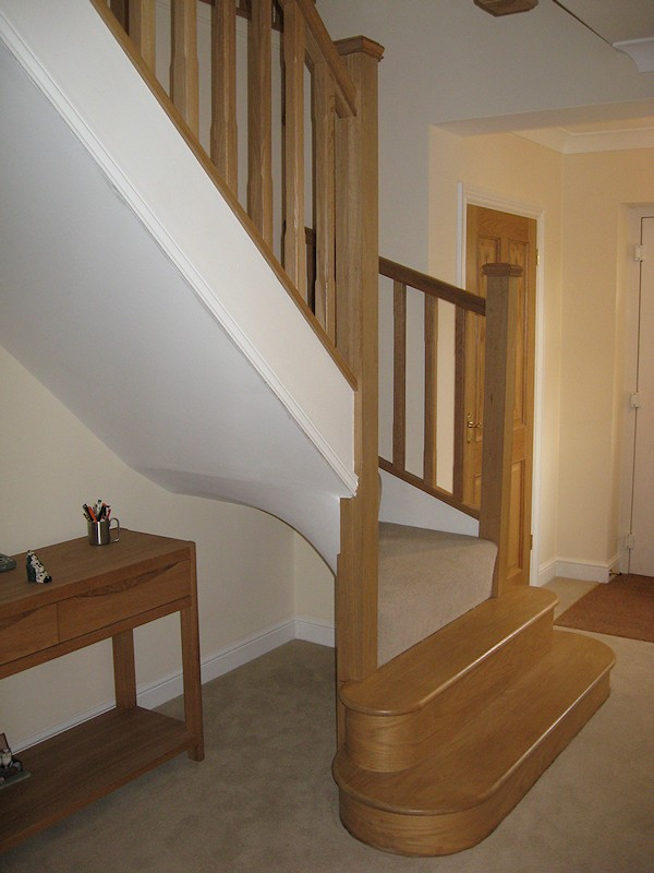 This new build property required two winder turn staircases over three floors, including a vast gallery.