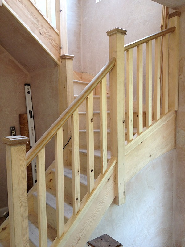 This softwood/pine painted staircase was for a loft conversion.