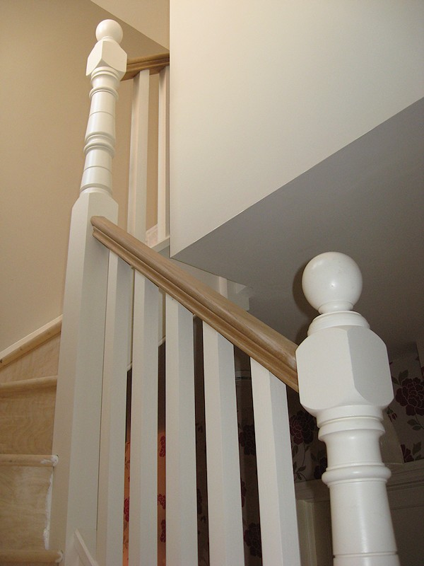 A double winder staircase for a loft conversion.