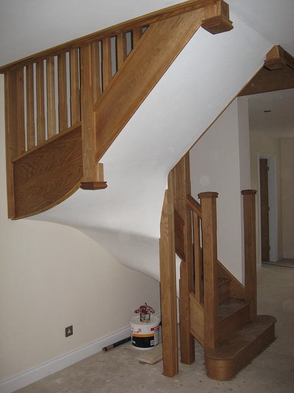 Two new oak staircases for a large house refurbishment.