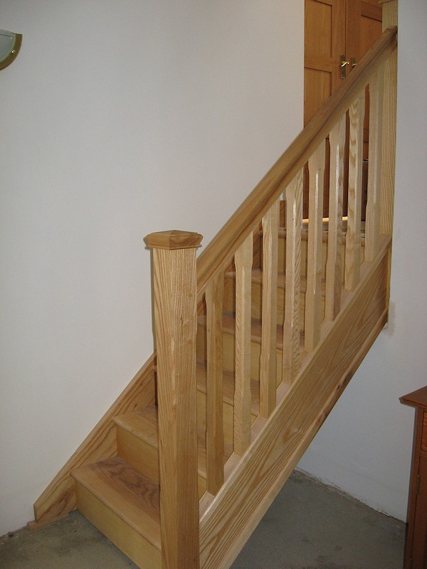 This staircase is made up of several short flights to gain access to different split levels in the property.