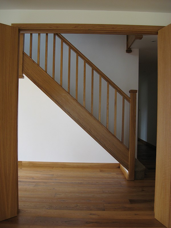 This part oak staircase was for a new build property.