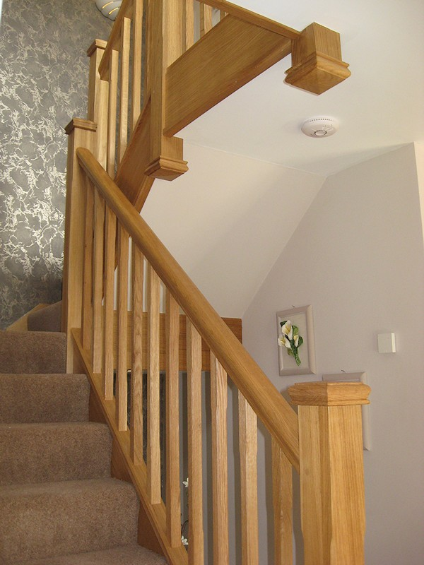This oak staircase was a direct replacement for a house renovation.