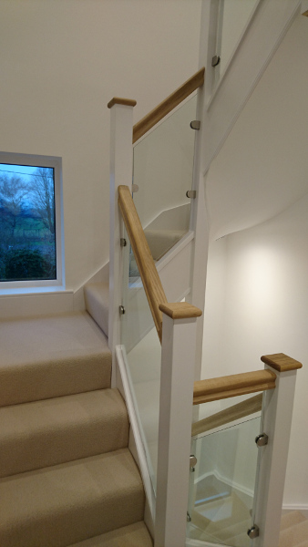 Two new staircases positioned above one another.