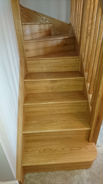 A small winder staircase for a cottage refurbishment.
